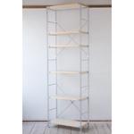 無印良品の「スチールユニットシェルフ奥行き25cmタイプ・木製棚6枚セット・大・グレー」