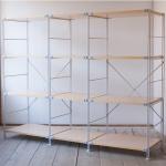 無印良品の「スチールユニットシェルフ・木製棚4段セット」