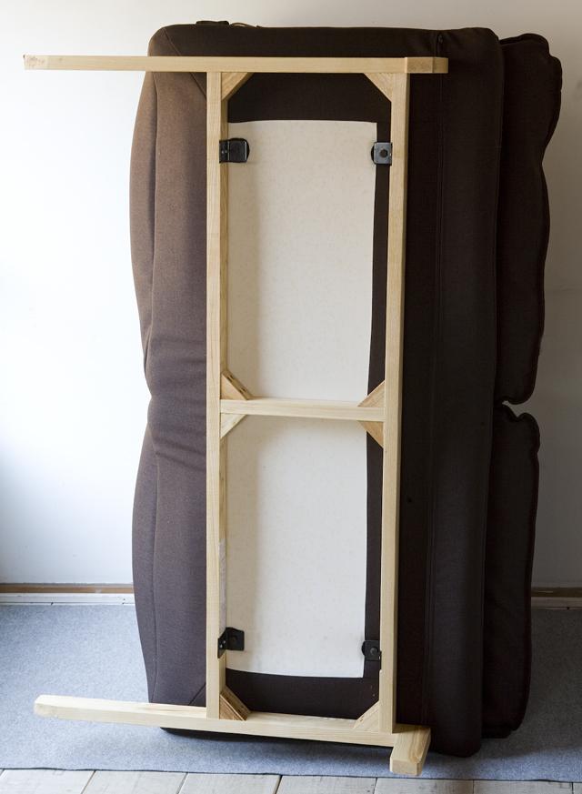 無印良品の「ハイバックリクライニングソファ・ポリエステル平織/ブラウン・2シーター」-06