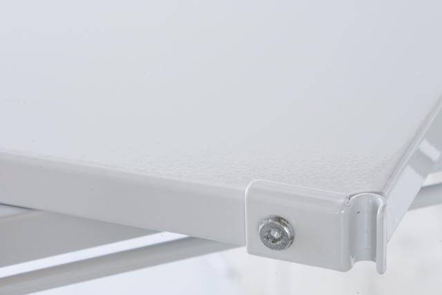 無印良品の「スチールユニットシェルフ・スチール棚セット・グレー」-06