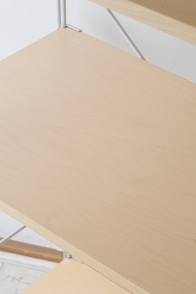 無印良品の「スチールユニットシェルフ・木製棚セット・ワイド大・グレー」-03