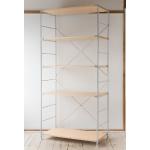 無印良品の「スチールユニットシェルフ・木製棚セット・ワイド大・グレー」