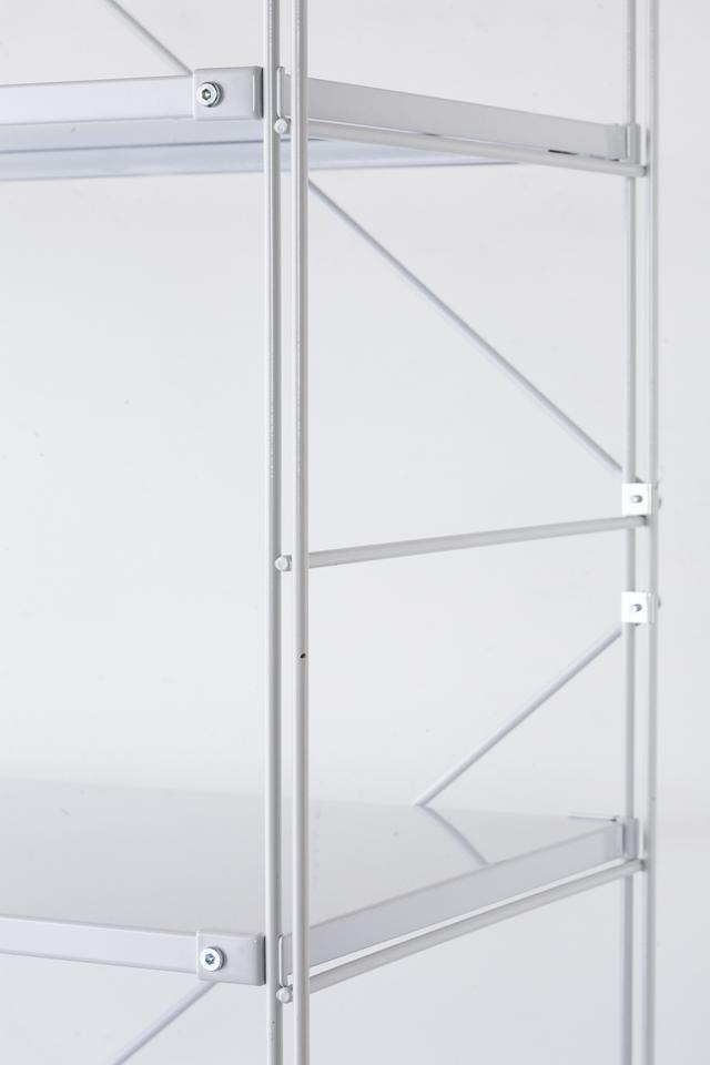 無印良品の「スチールユニットシェルフ・スチール棚セット・ワイド大・グレー」-02