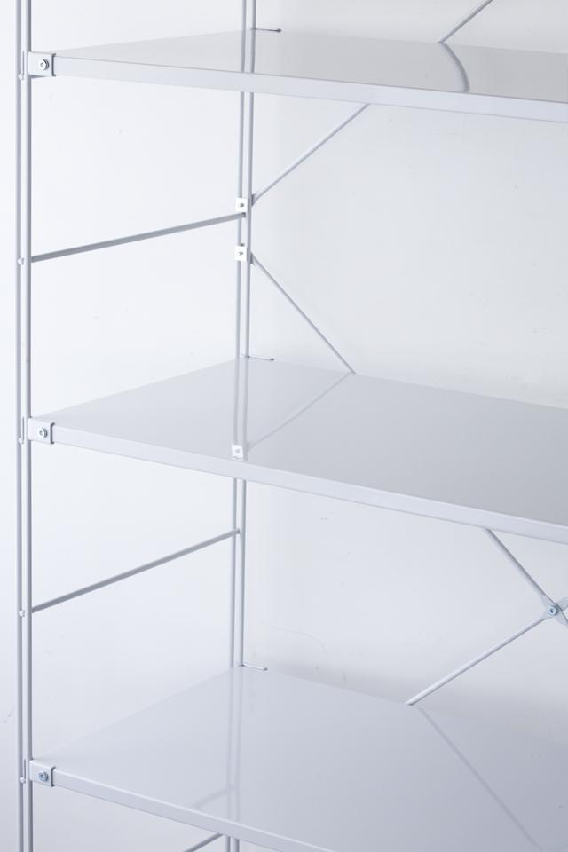 無印良品の「スチールユニットシェルフ・スチール棚セット・ワイド大・グレー」-04