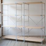 無印良品の「スチールユニットシェルフ・木製棚セット4段」