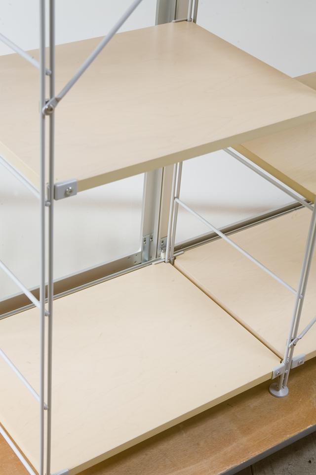 無印良品「スライドドア付き・スチールユニットシェルフ・木製棚セット」-07