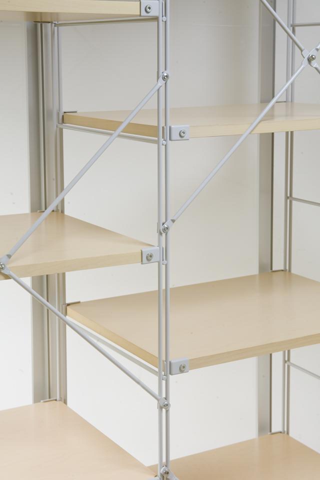 無印良品「スライドドア付き・スチールユニットシェルフ・木製棚セット」-08