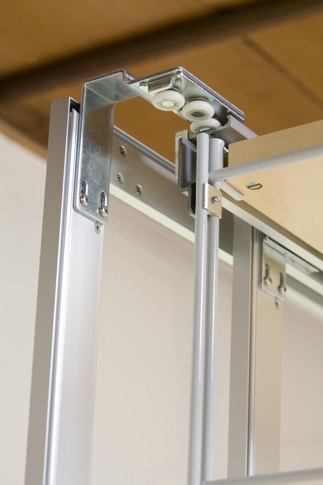 無印良品「スライドドア付き・スチールユニットシェルフ・木製棚セット」-11
