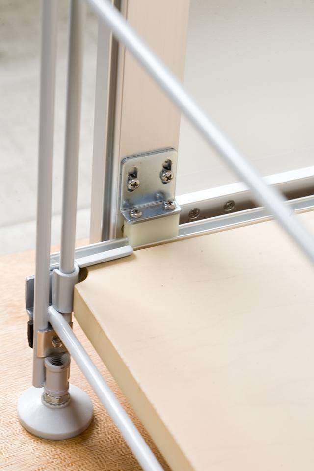 無印良品「スライドドア付き・スチールユニットシェルフ・木製棚セット」-15