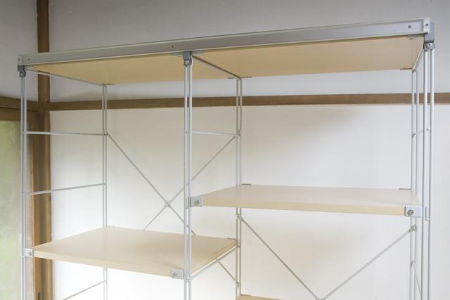 無印良品「スライドドア付き・スチールユニットシェルフ・木製棚セット」-16