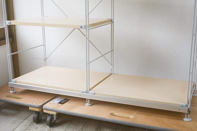 無印良品「スライドドア付き・スチールユニットシェルフ・木製棚セット」-18