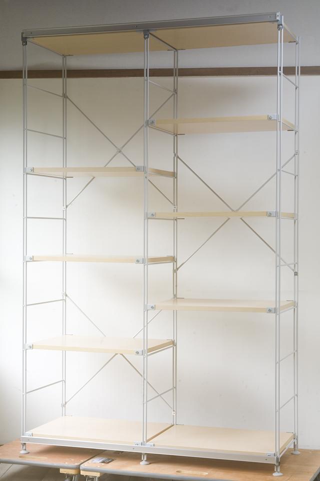 無印良品「スライドドア付き・スチールユニットシェルフ・木製棚セット」-20