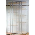無印良品「スライドドア付き・スチールユニットシェルフ・木製棚セット」