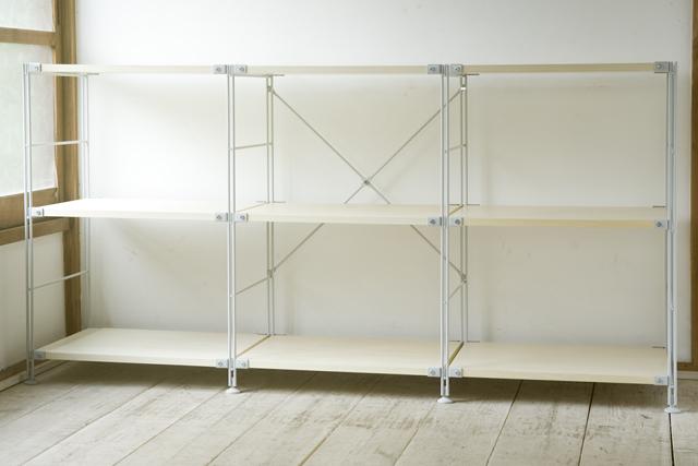 無印良品「スチールユニットシェルフ・木製棚3段セット」-01