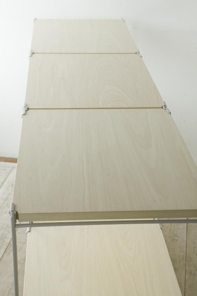 無印良品「スチールユニットシェルフ・木製棚3段セット」-05