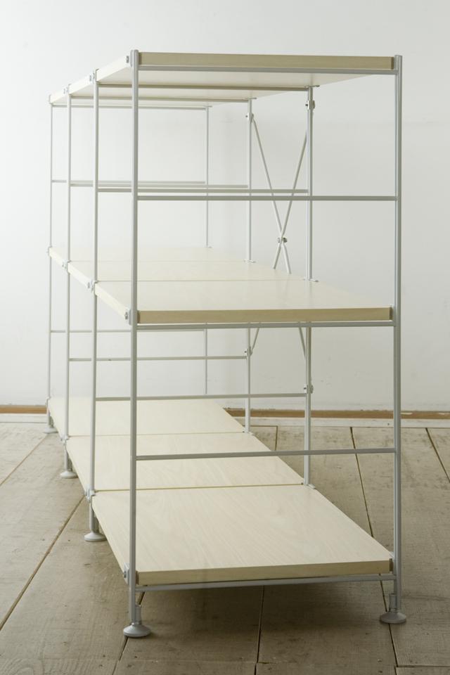 無印良品「スチールユニットシェルフ・木製棚3段セット」-06