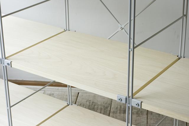 無印良品「スチールユニットシェルフ・木製棚3段セット」-07