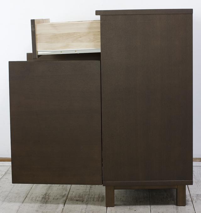 無印良品「タモ材キャビネット・木製扉|ブラウン」-04