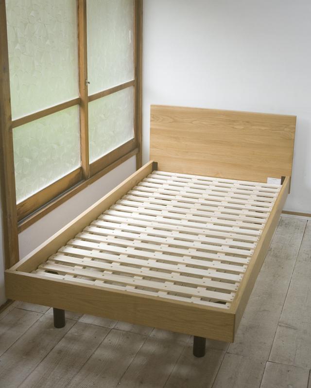 中古|無印良品|無垢材ベッド・オーク材・シングル|幅 1050mm