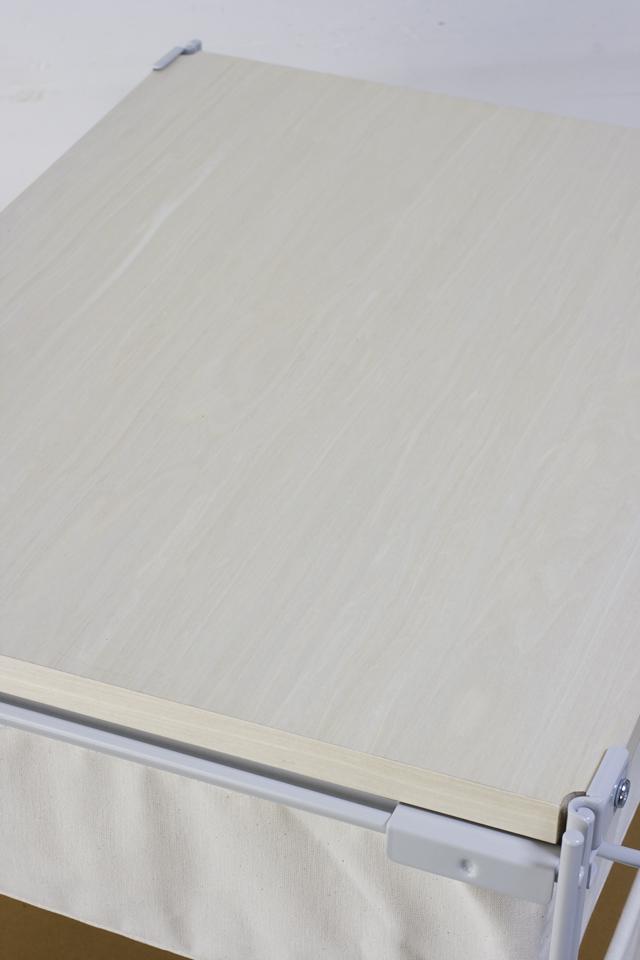 中古|無印良品|スチールユニットシェルフ帆布バスケットセット・木製棚板・幅56cmタイプ-04