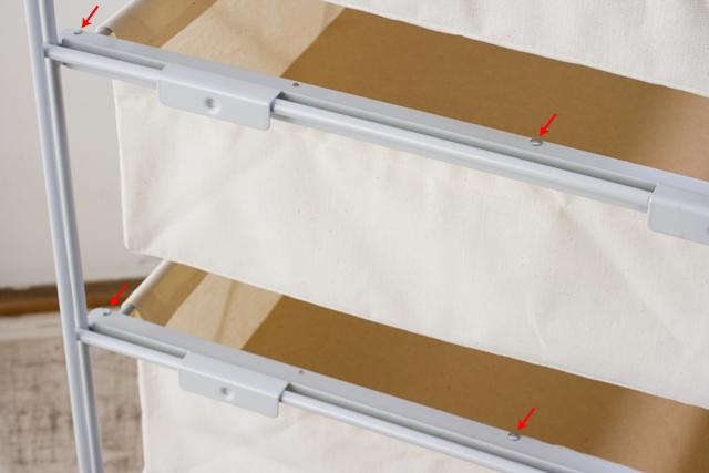 中古|無印良品|スチールユニットシェルフ帆布バスケットセット・木製棚板・幅56cmタイプ-06a