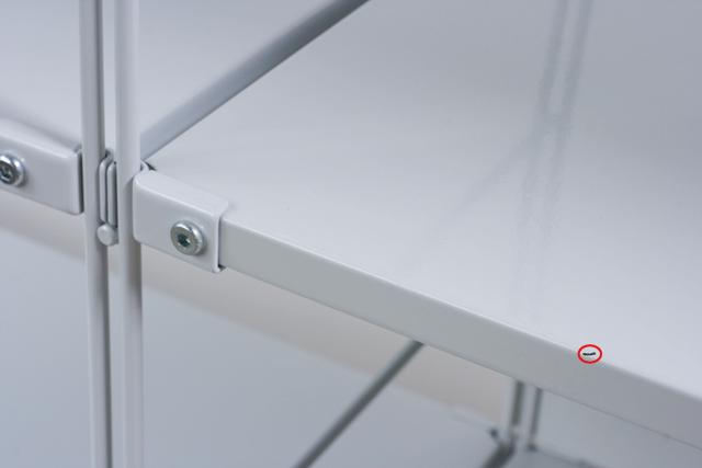 無印良品「スチールユニットシェルフ・グレー棚セット」-05a