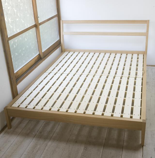 無印良品「タモ材ベッド・ダブル」-01