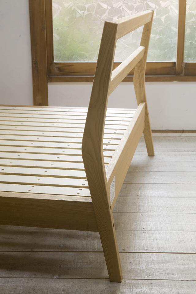無印良品「タモ材ベッド・ダブル」-03