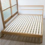 無印良品「タモ材ベッド・ダブル」