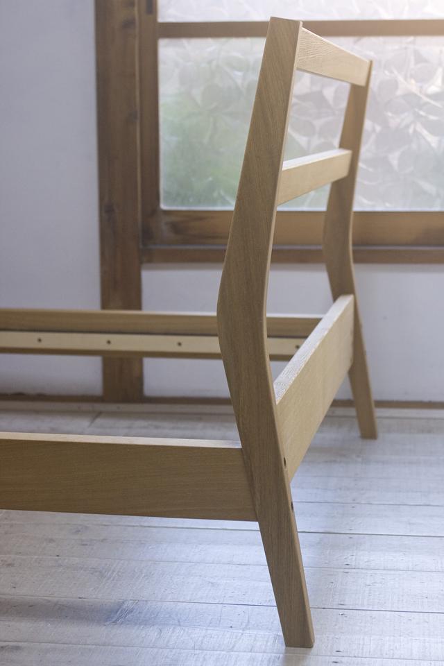 無印良品「タモ材ベッド・セミダブル」-06