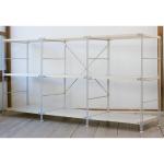 c無印良品のスチールユニットシェルフ・木製棚3段セット