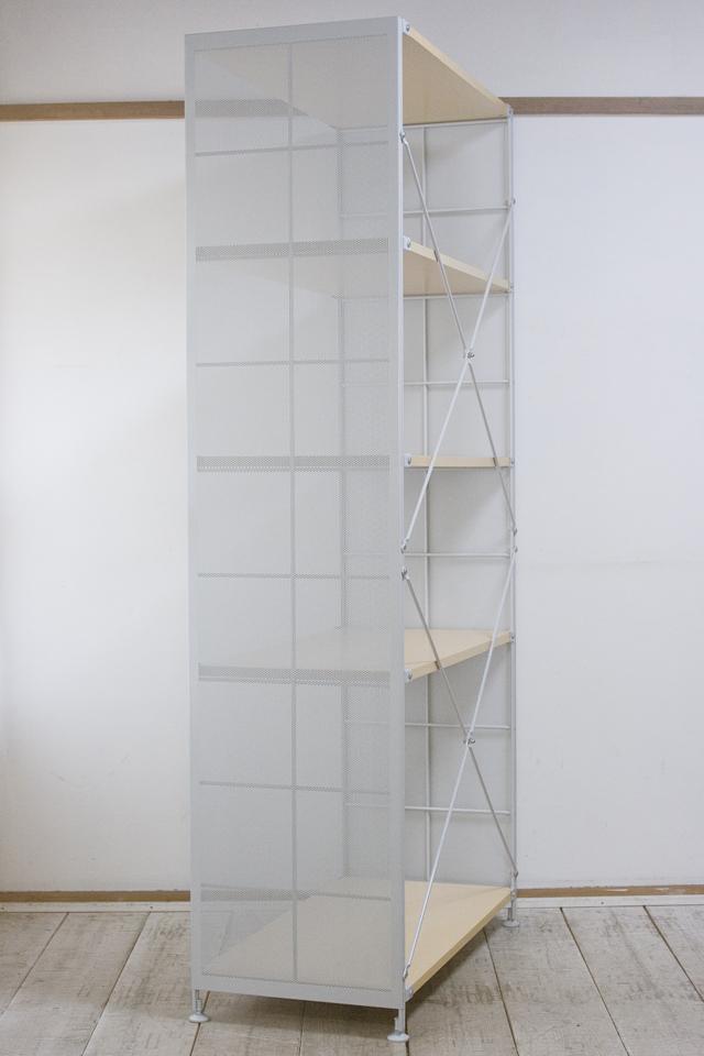 無印良品「スチールユニットシェルフ・木製棚セット・ワイド大・グレー」-02