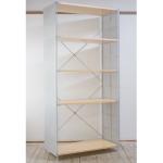 無印良品「スチールユニットシェルフ・木製棚セット・ワイド大・グレー」