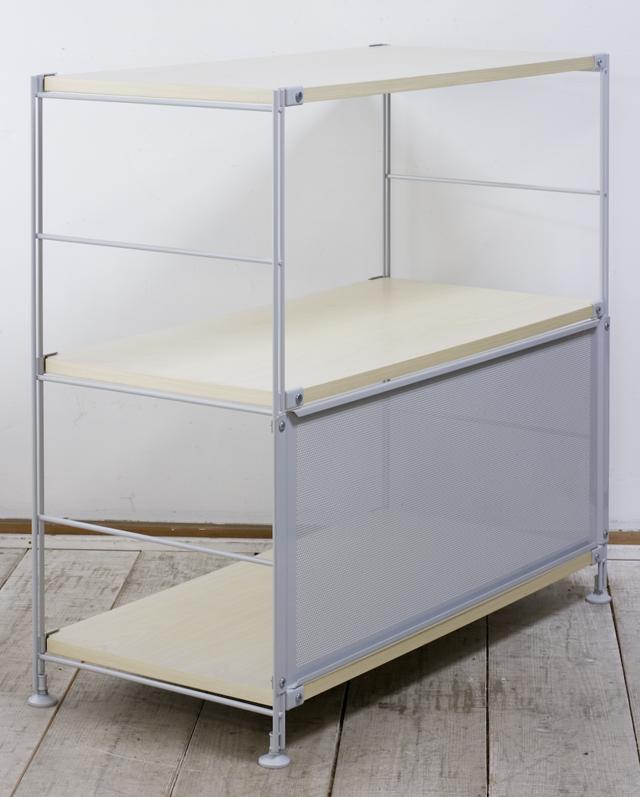 無印良品「スチールユニットシェルフ・木製棚セット・ワイド小・グレー」-02