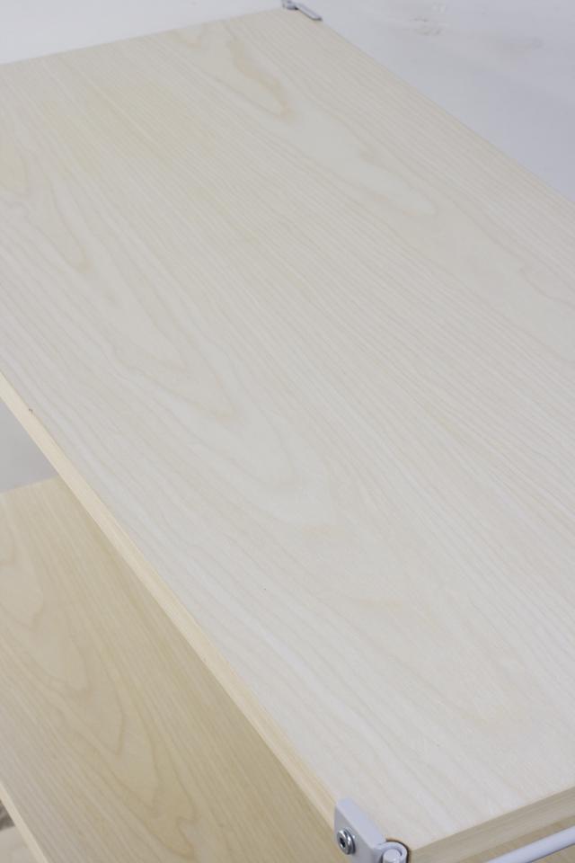 無印良品「スチールユニットシェルフ・木製棚セット・ワイド小・グレー」-04