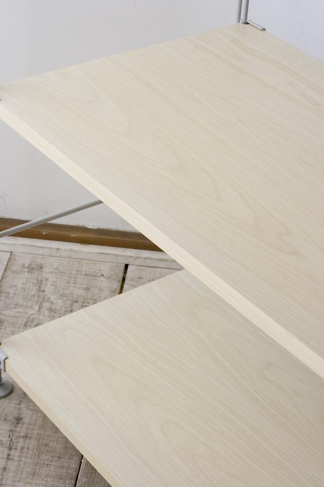 無印良品「スチールユニットシェルフ・木製棚セット・ワイド小・グレー」-05