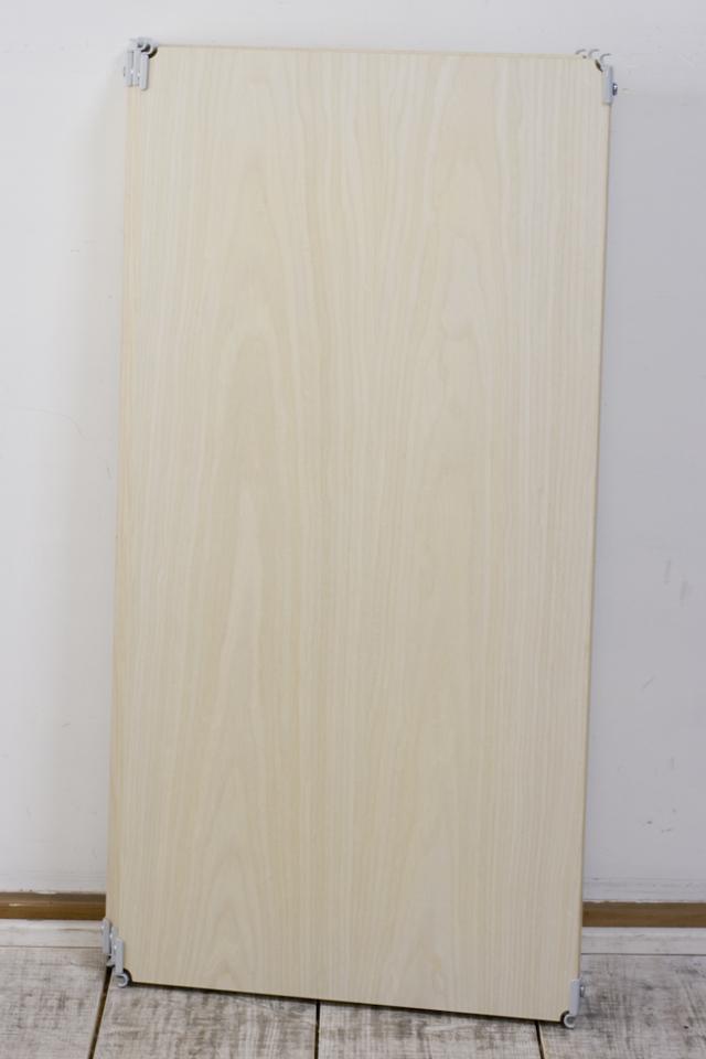 無印良品「スチールユニットシェルフ・木製棚セット・ワイド小・グレー」-07