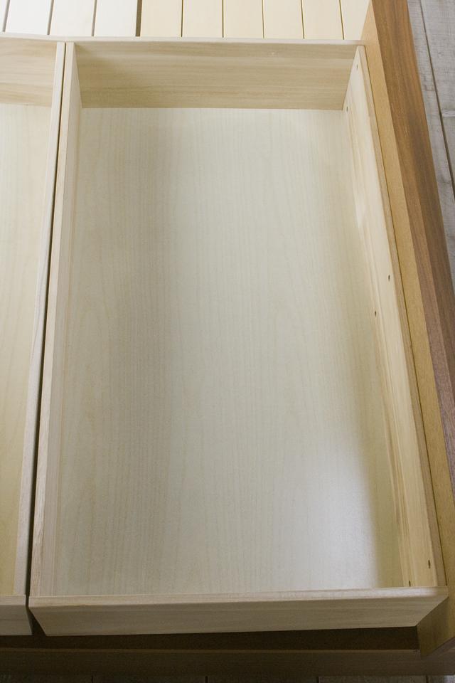 無印良品「収納ベッド・ダブル・ウォールナット材」-10