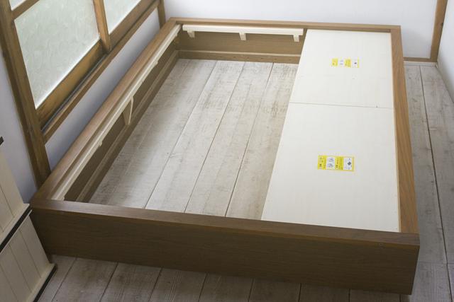 無印良品「収納ベッド・ダブル・ウォールナット材」-15