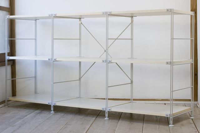 無印良品「スチールユニットシェルフ・木製棚セット」-01