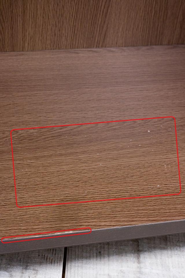 無印良品「木製キャビネット・ガラス扉・大・タモ材/ブラウン」-05