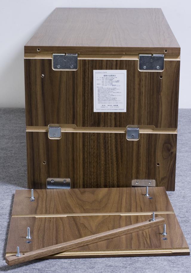無印良品「ステンレスユニットシェルフ・ウォールナット材棚SET・ボックス・引出し・2段付」-09