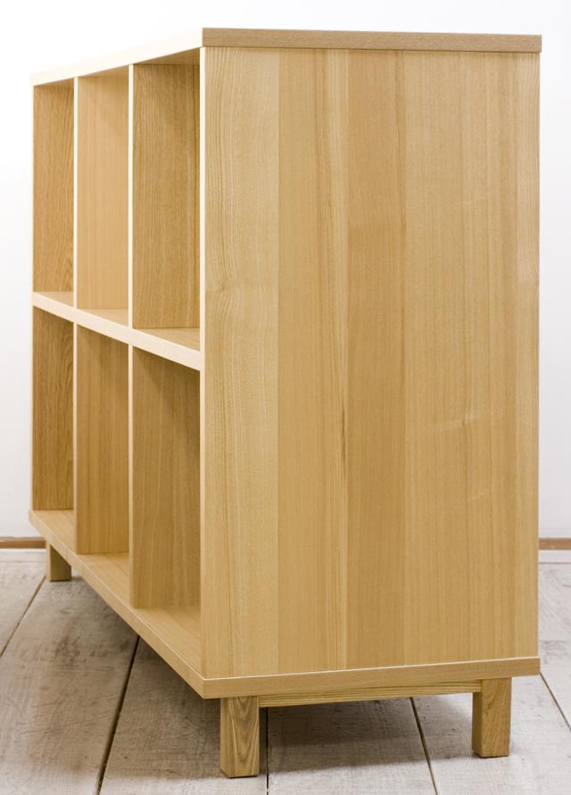 無印良品「タモ材オープンシェルフ・2段×3列」-03
