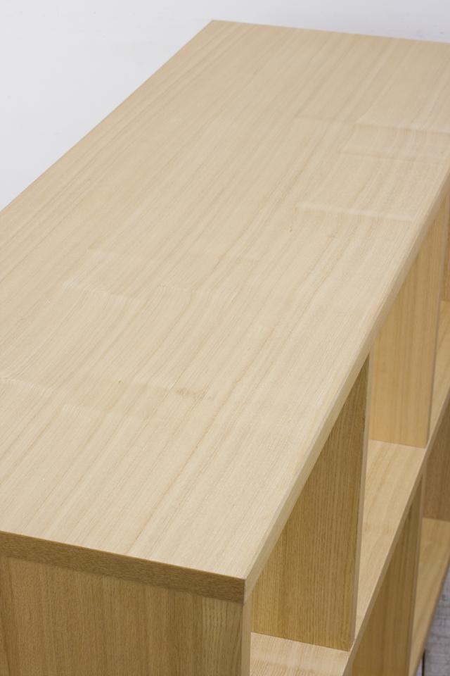 無印良品「タモ材オープンシェルフ・2段×3列」-05