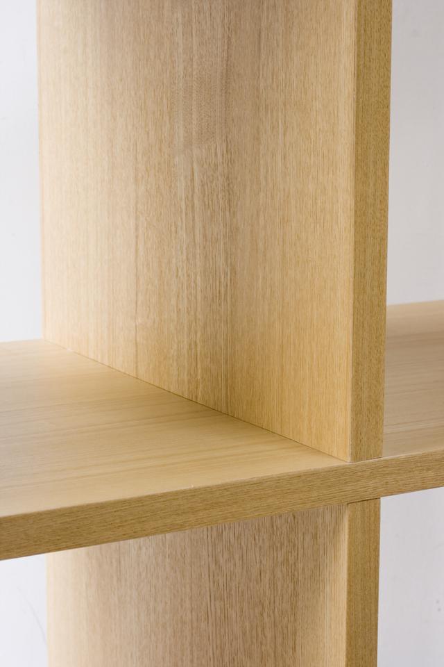 無印良品「タモ材オープンシェルフ・2段×3列」-06