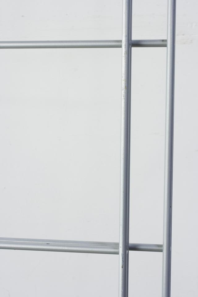 スチールユニットシェルフ・メープル材棚セット・ワイド大・シルバー-15