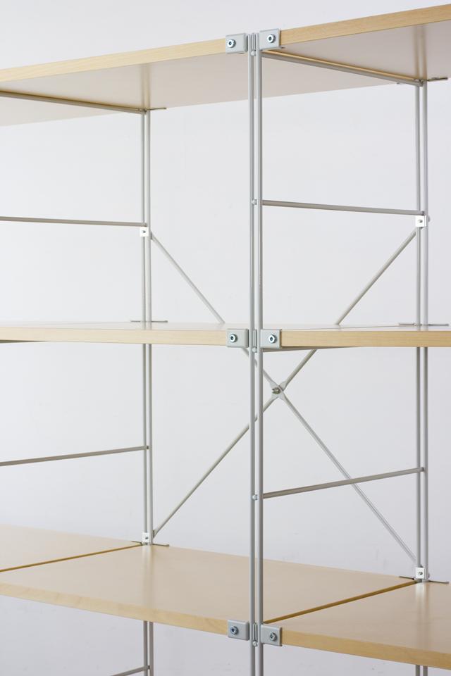 無印良品「スチールユニットシェルフ・木製棚4段セット」-03
