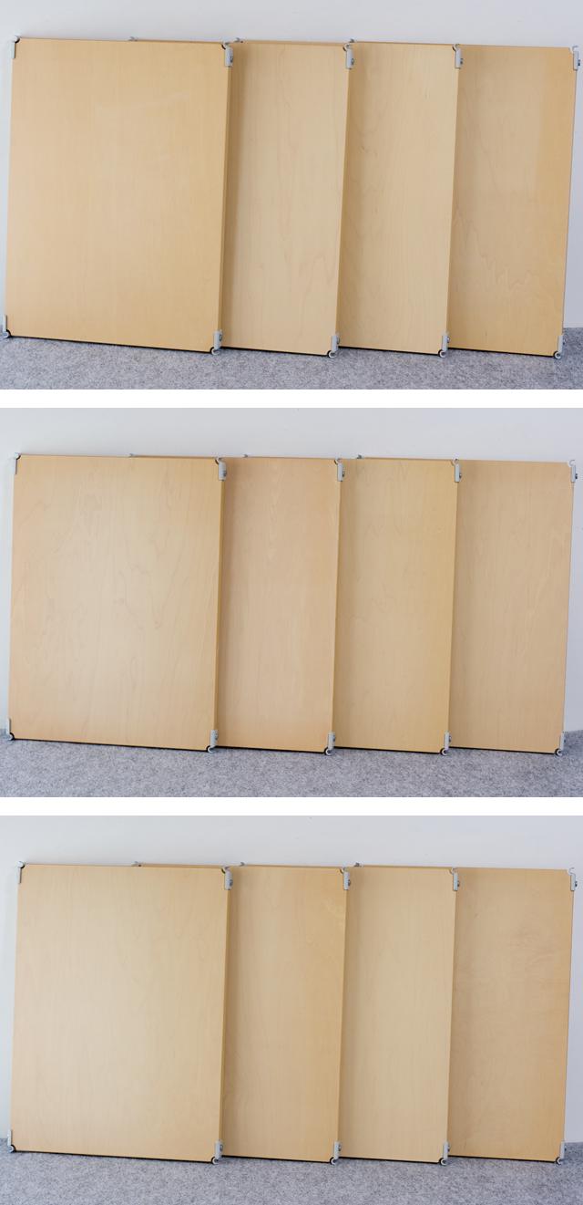 無印良品「スチールユニットシェルフ・木製棚4段セット」-06a