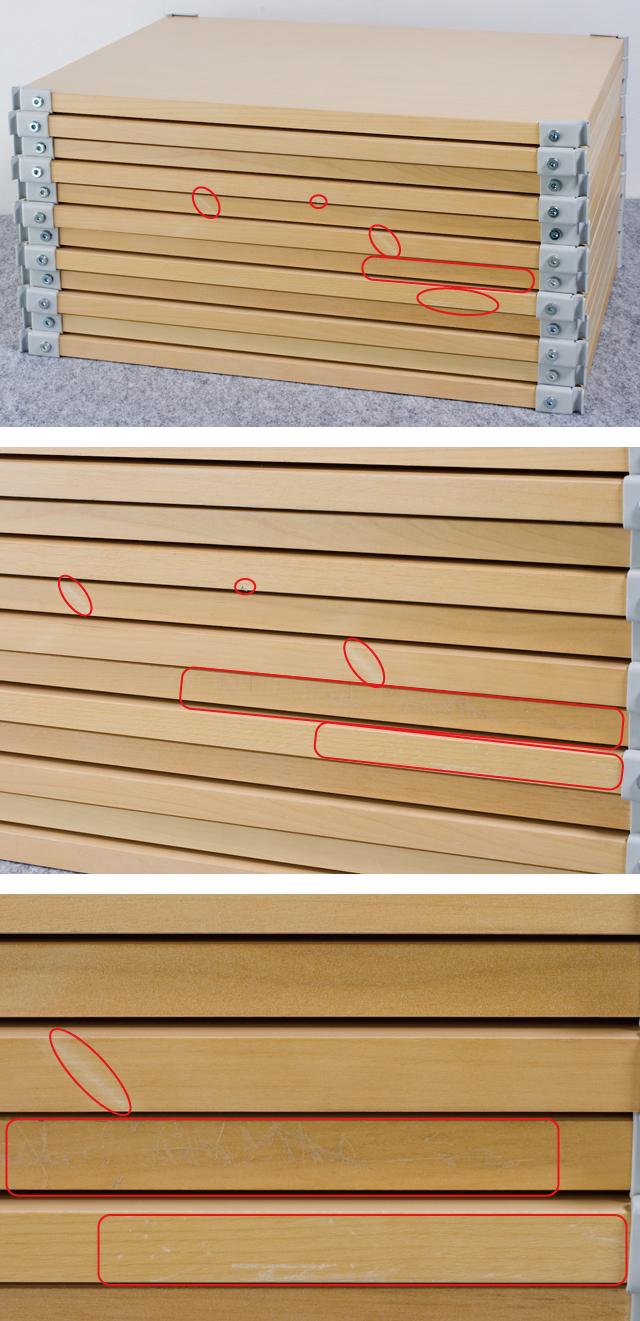 無印良品「スチールユニットシェルフ・木製棚4段セット」-09a
