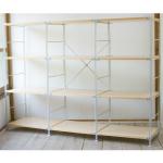 無印良品「スチールユニットシェルフ・木製棚4段セット」